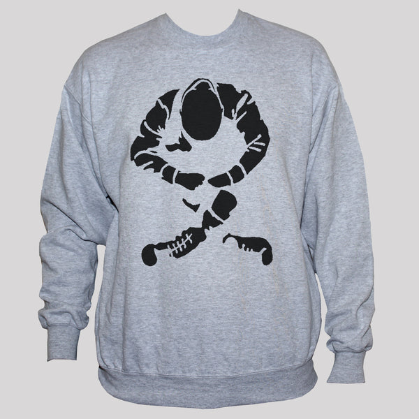 Sitting skinhead sweatshirt unisex punk rock Oi grey sweater jumper