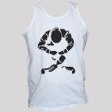 Sitting skinhead black print on white unisex t shirt vest punk rock oi top