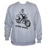 Lone Rider Sweatshirt/ Biker Outlaw Rebel Jumper Sweater