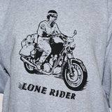 Lone Rider Sweatshirt by Rockbugapparel/ Biker Outlaw Rebel Unisex Jumper