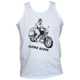 Lone Rider T shirt/Vest Motorcycle Rebel Biker Unisex Sleevless Tee