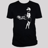 ska girl unisex black t shirt reggae clubbing graphic tee
