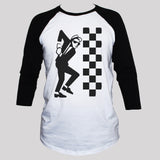 Ska Two Tone Graphic T shirt Unisex 3/4 Sleeve Baseball Tee