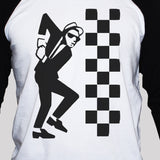 Ska Dude Two Tone Graphic T shirt Unisex 3/4 Sleeve Baseball T shirt