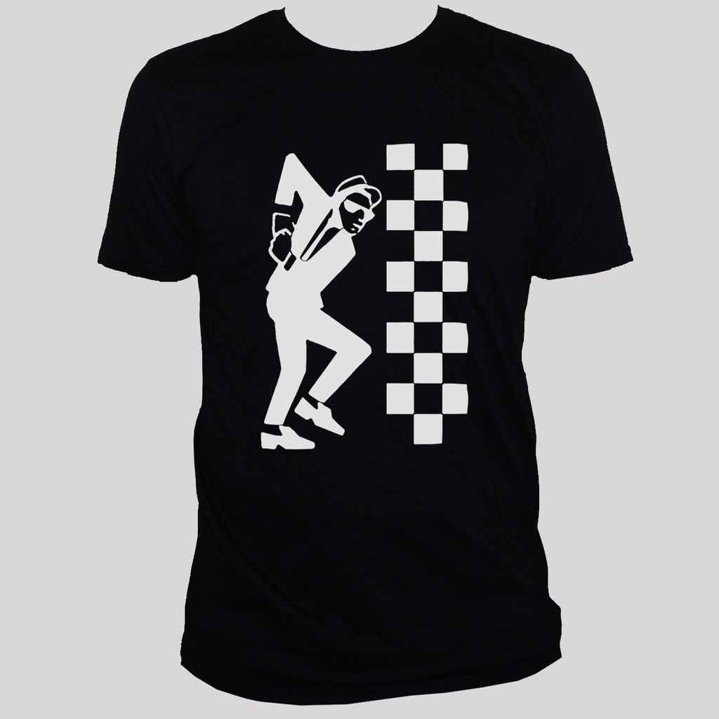 Ska Dude Rude Boy Two Tone Graphic T shirt B;acl