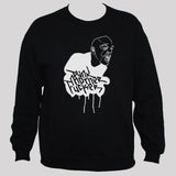 Punk Rock Motherfuc**r Black Graphic Sweatshirt White Print