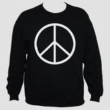 Peace Sign-Symbol Sweatshirt Anti War Political Activist Pacifist Black Sweater