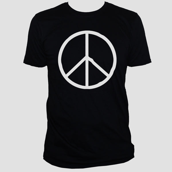 Peace Sign Symbol T shirt/ Political Anti-War Activist Unisex Black Tee