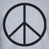Peace Sign-Symbol Anti War T shirt/Vest Political Protest Unisex Grey Tee