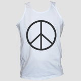 Peace Sign-Symbol Anti War T shirt/Vest Political Protest Unisex Tee White