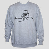 Robot Sweatshirt Cute Unisex Polycotton Graphic Grey Jumper