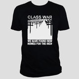 Class War t shirt/ Protest Political Left Wing Rebel Punk Rock Unisex Black Top