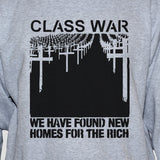 Class war left wing political shirt Protest Revolution Revolt Anarchy Grey Unisex Top