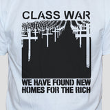 Class War White Unisex T shirt Protest Punk Rock Political Left Wing Top