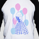 Sad Clown Graphic T shirt Unisex Emo Grunge Style Print On 3/4 Sleeve Baseball Tee