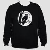 Owl Bird Sweatshirt/ Tattoo Goth Unisex Black Sweater Jumper