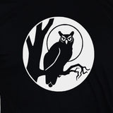 Owl T shirt/ Goth Night Bird Unisex Black Tee