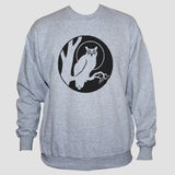 Owl Bird Sweatshirt/ Tattoo Goth Unisex Grey Sweater Jumper