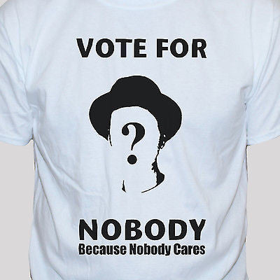 "Political Anarchist ""Vote For Nobody"" T shirt White"