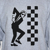 Ska Dude Grey Graphic T shirt Two Tone Unise Tee