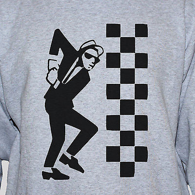 Ska Dude Rude Boy Two Tone Graphic T shirt Grey