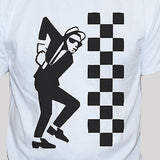 Ska Dude 2 Tone White Unisex Graphic T shirt
