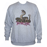 Snake Sweatshirt/ Rockabilly Biker Tattoo Grunge Style Grey Jumper
