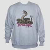 Rockabilly Biker Tattoo Sweatshirt Snake Graphic Grey Unisex Jumper