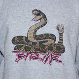 Snake Sweatshirt/ Mens Womens Biker Rockabilly Tattoo Grey Jumper