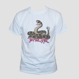 Snake Cobra Bite Me T shirt Unisex  Rockabilly Statement Slogan white tee