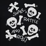 Skulls And Bones Funny Print On Black Sweatshirt