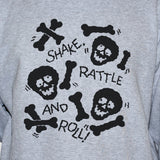 Skulls and Bones Sweatshirt Funny Goth Graphic Unisex Jumper Sweater