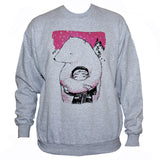 Polar Bear Cute Grey Sweatshirt Animation Graphic Sweater Jumper