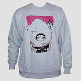 Polar Bear Huging Boy Sweatshirt Animation Kawaii style print