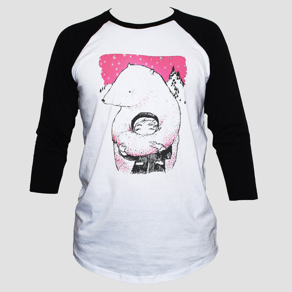 Polar Bear Animation Style T shirt 3/4 Sleeve Unisex Tee