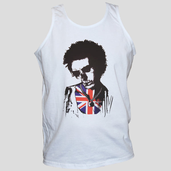Sid Vicious Skull T shirt Vest Zombie Goth Rockabilly Unisex Top
