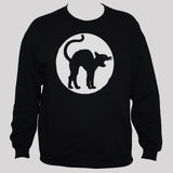 Angry Cat Sweatshirt Black Mens/Womens Goth Grunge Jumper