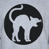 Cat Grey Sweatshirt Grunge Punk Rock Goth Unisex Jumper Sweater