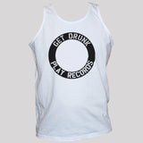 DJ Funny Get Drunk Play Records Graphic Vest Top All Sizes