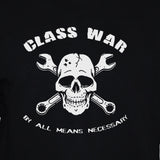 Class war t-shirt punk rock political left wing mens/womens black top