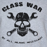 Class war political t-shirt punk rock protest mens/womens grey top