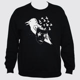 Crow Raven Mask Black Sweatshirt Art Tattoo Emo Jumper Sweater