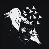 Crow Raven Mask Black Sweatshirt Art Tattoo Emo Jumper Sweater Close Up