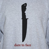 dare to face knife crime unisex t shirt vest grey graphic top