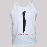 dare to face knife crime unisex t shirt vest white graphic top