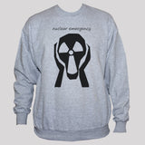 Anti-Nuclear Protest Sweatshirt No War Peace Demonstration Graphic Sweater Grey