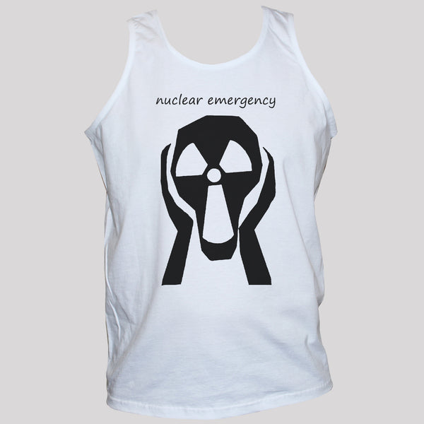 Nuclear Emergency Anti-War Peace White T shirt Vest Top