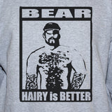 Hairy Bear Funny Vest/Gay Party Festival Unisex Grey Top