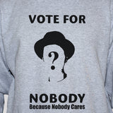 vote for nobody t shirt vest unisex political protest left wing tank top unisex grey