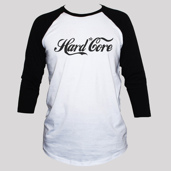 Hard Core  3/4 Sleeve T shirt Unisex Punk Protest Graphic Top
